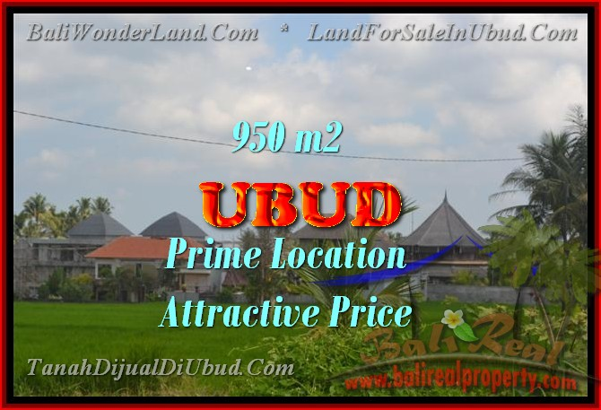 Fantastic Land for sale in Bali, Rice paddy view in Ubud Center– TJUB428