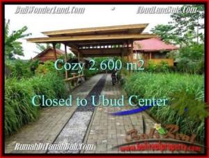 Magnificent PROPERTY UBUD BALI 2,600 m2 LAND FOR SALE TJUB491