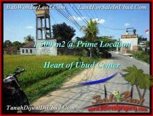 Exotic PROPERTY UBUD BALI 1,500 m2 LAND FOR SALE TJUB508