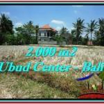 Affordable PROPERTY 2,000 m2 LAND IN Sentral Ubud FOR SALE TJUB524
