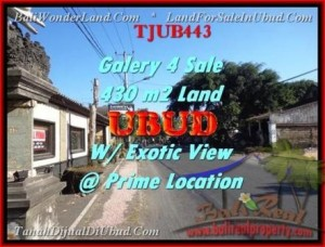 Affordable PROPERTY UBUD BALI 430 m2 LAND FOR SALE TJUB443