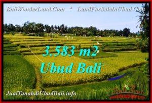 Exotic UBUD BALI 3,583 m2 LAND FOR SALE TJUB542