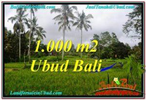 Magnificent UBUD BALI 1,000 m2 LAND FOR SALE TJUB570