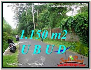 Exotic PROPERTY UBUD BALI 1,150 m2 LAND FOR SALE TJUB576