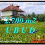 UBUD BALI 2,700 m2 LAND FOR SALE TJUB595