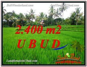 Beautiful 2,400 m2 LAND IN Sentral Ubud FOR SALE TJUB587