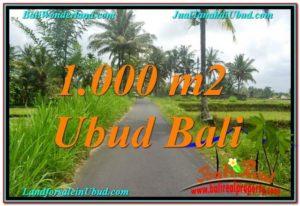 Exotic 1,000 m2 LAND FOR SALE IN UBUD BALI TJUB634
