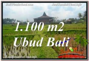 Exotic PROPERTY SENTRAL UBUD 1,100 m2 LAND FOR SALE TJUB670
